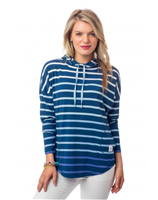 Skipper Stripe Hoodie from Southern Tide
