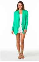 "Surfside Beachside Cardigan in ""Jade"" from Tori Richard"
