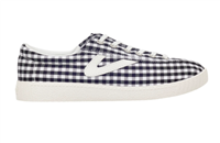 Black and white gingham canvas sneakers