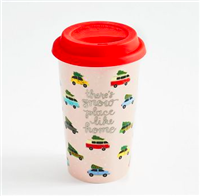 """Vintage Cars"" ceramic travel mug"