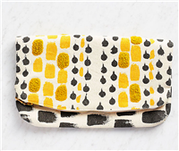 Yellow & Grey Clutch bag from Waste Not Paper