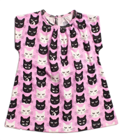 "Olympia Baby Dress in ""Lavender Cats"""