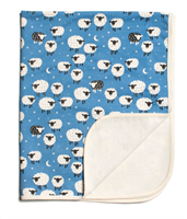 "French Terry blanket ""Counting Sheep"" from Winter Water Factory"