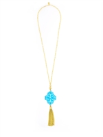 Twirling Blossom Tassel Necklace from Zenzii
