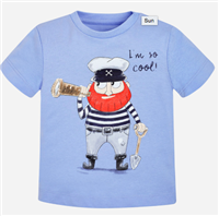 "Lake Blue cotton tee that reads ""I'm So Cool"" tee"