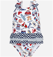"""Tour of Italy"" swimsuit from mayoral"