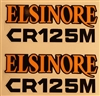 1974 1975 Honda CR125M Elsinore sidepanel decals