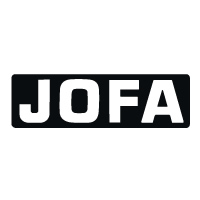 Jofa Black w/white Lettering Decal