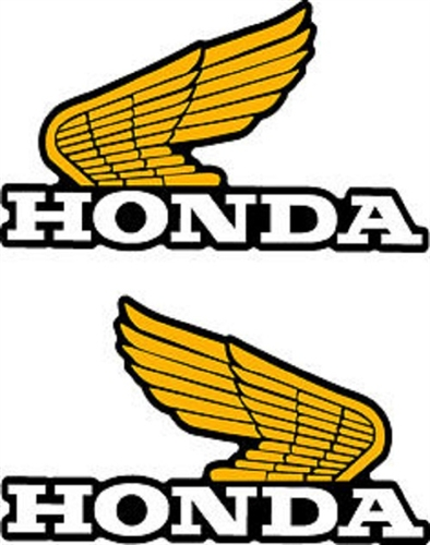 1982 Honda Xl250r Tank Wings Decals