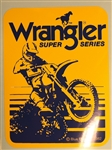 Wrangler Super Series bike decal sticker