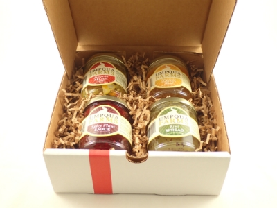 Gift box with four jars