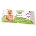 Organyc Baby Wipes - 100 Percent Organic Cotton