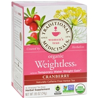 Traditional Medicinals Organic Weightless Cranberry Herbal Tea case