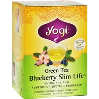 Yogi Green Slim Life Herbal Tea Blueberry case