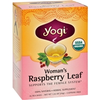 Yogi Organic Woman's Herbal Tea Raspberry Leaf