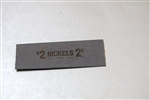FLAT NICKLE WRAPPERS 1000 PER PKG.