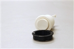 NYLON PUSH BUTTON - WHITE