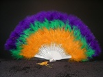 Marabou Fan Mardi Gras look