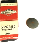220352 Briggs & Stratton Welch plug