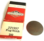 221997 Genuine Briggs & Stratton Welch Plug
