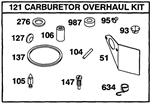 497849 Genuine Briggs & Stratton Carburetor Overhaul Kit