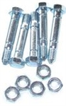 R916 Pack of 5 Snowblower Shear Pins & Lock Nuts Replace Ariens 510015