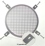 "15"" Black Steel Speaker Grill Waffle Screen with Fasteners - SG15"