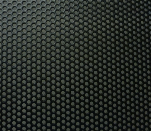 18 Quot By 40 Quot Sheet Of Perforated Steel Powder Coated Black