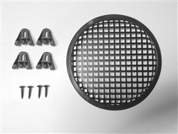 "5 1/4"" Black Steel Speaker Grill Waffle Screen with Fasteners - SG514"