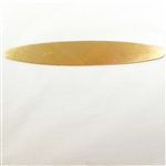 brass blank, cuff base, raw brass, 4 inches