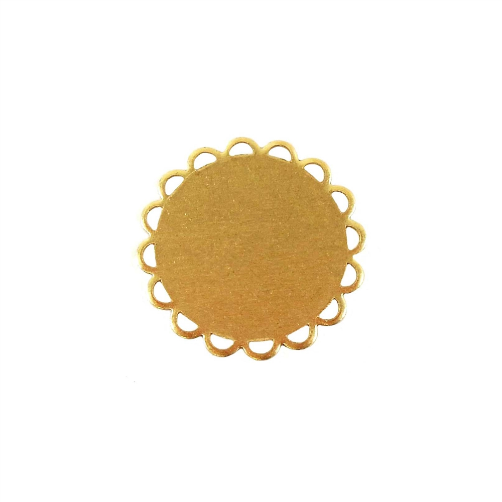 Brass Base, Loop Edge, jewelry supplies, raw