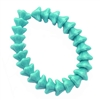 glass beads. druk beads, green turquoise, 8mm