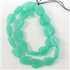 leaf bead, jewelry making, opal light jade, 10mm