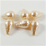 baroque pearl beads, Miriam Haskell, cream, 10x18m