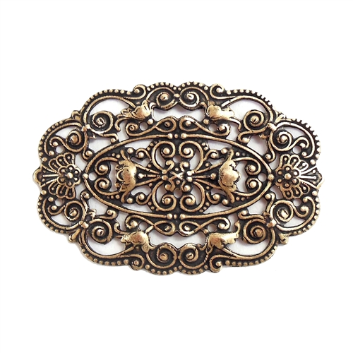 brass filigree, Victorian filigree, brass ox, 07738, B'sue Boutiques, US made jewelry supplies, nickel free jewelry supplies, vintage jewellery supplies, brass ox, black antiquing, antique brass, filigree jewelry base