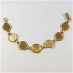 brass bracelet, bezel bracelet, jewelry making