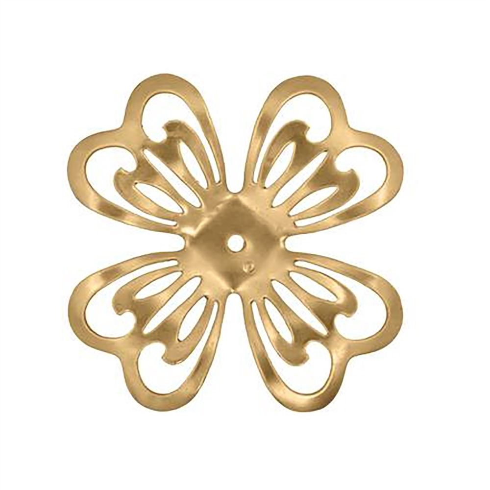 brass flower, raw brass, 55mm, slotted flower, 03809, B'sue Boutiques, US Made, nickel free, brass jewelry parts, jewelry making, beading supplies, jewelry supplies, vintage jewelry supplies, drilled flowers, flower base,