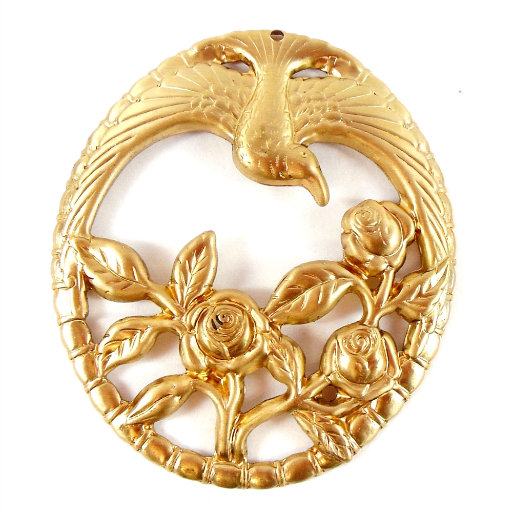 brass birds, bird pendants, jewelry supplies,raw brass, antique brass, jewelry making, B'sue Boutiques, nickel free, US Made, floral pendant, filigree pendant, brass stampings, 05791