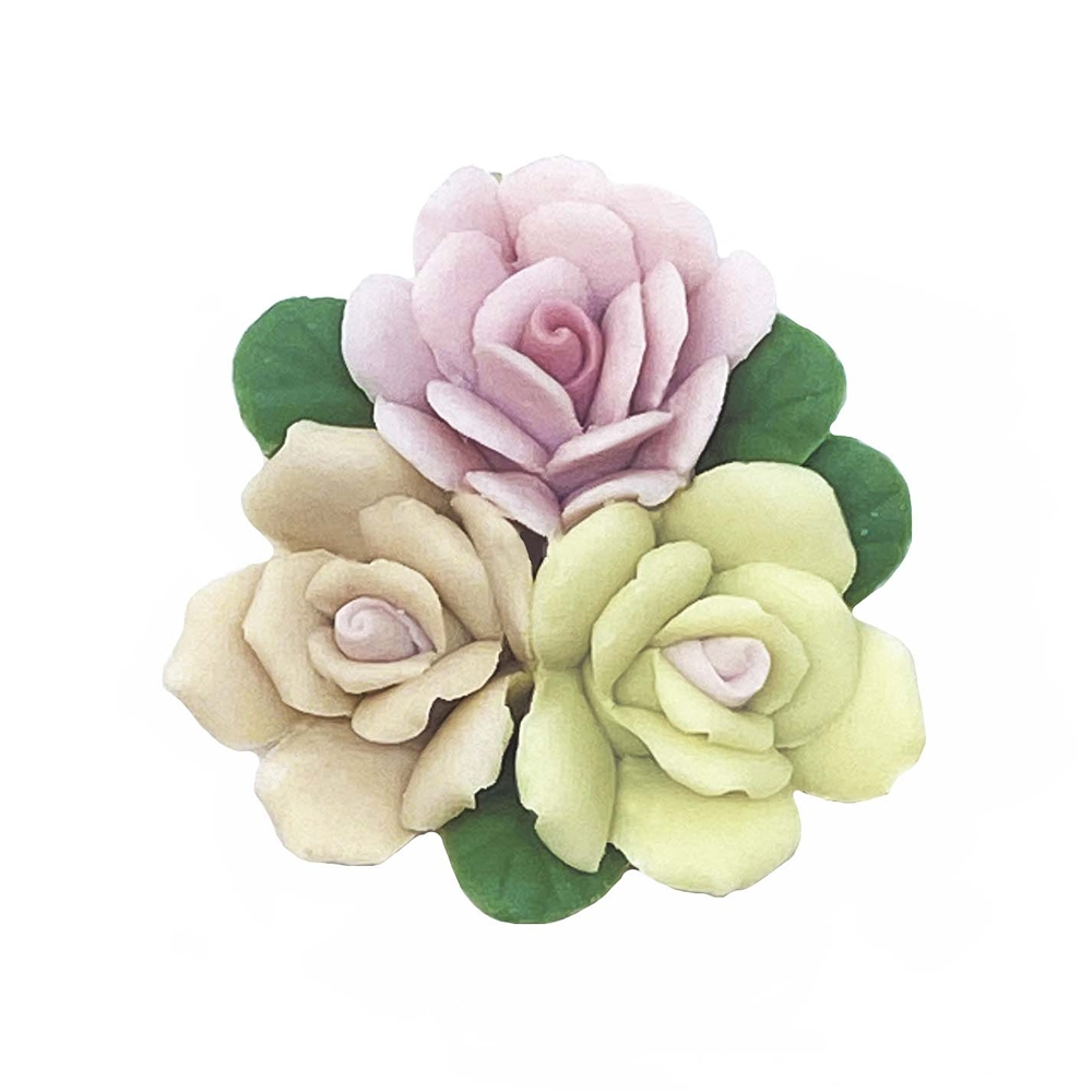 ceramic flowers, jewelry supplies, handmade