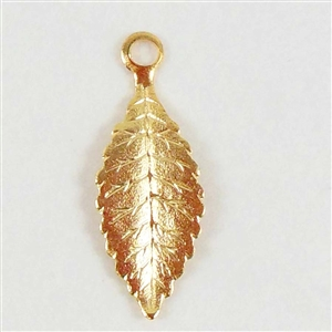 brass leaves, jewelry making,satin matte gold, 26m