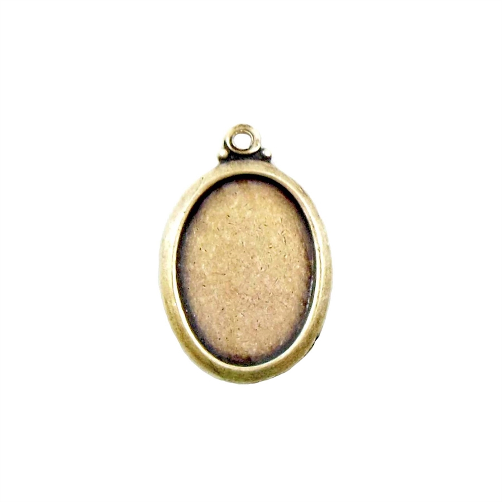 Brass Mount, Cameo Mount, Anitque Brass, Bezel, Mount, Pendent Style, Brass Ox, Brass Stamping, 13 x 10mm, Earring, Jewelry Findings, Nickel Free, Made in USA, B'sue Boutiques, Earring, 03620