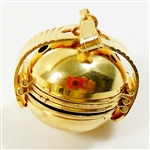 brass lockets, four way lockets, gold plate, 23x27