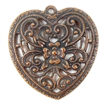 vintage hearts, heart pendants, jewelry supplies