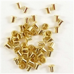 brass rivets, raw brass, jewelry making, 3/32 inch