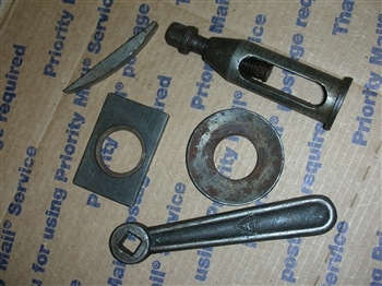 ATLAS CRAFTSMAN 6 INCH LATHE TOOL POST AND WRENCH