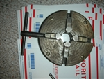 USED ATLAS CRAFTSMAN USA  6 INCH DIAMETER 4 JAW INDEPENDENT LATHE CHUCK WITH KEY 1 1/2-8 MOUNT.