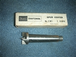 NEW OLD STOCK ATLAS CRAFTSMAN WOODWORKING SPUR CENTER IN BOX #2 SHANK