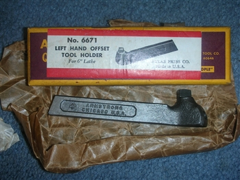 NEW OLD STOCK ARMSTRONG #6671 LH TOOL HOLDER IN BOX FITS 6 INCH SWING LATHES