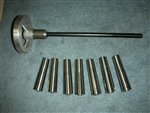 GRIZZLY 8 INCH LATHE #3 MORSE TAPER COLLET AND DRAWBAR SET
