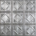 Backsplash Panel 18x24 In Crosshatch Silver Trad 4 - Case of 5